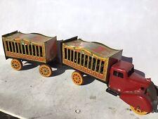 1936 Wyandotte Circus Truck & Trailer / Missing Cardboard Animals, Very Rare!