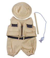 """Fisherman w/Hat and Pole Outfit Teddy Bear Clothes Fits Most 14"""" - 18"""" Build-A-B"""