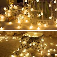 Fairy LED String Lights Christmas Round Ball Blubs Wedding Party Lamp Decor New