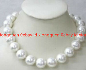 """Wonderful! Beautiful 14mm White South Sea Shell Pearl Necklace 18"""" AAA"""