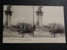 "CARTE POSTALE STEREO CARTE ""EN 1900"" PARIS LE PONT ALEXANDRE III"