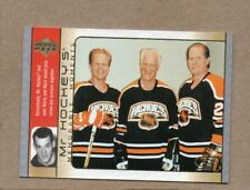 gordie howe 2003/04 ud memorable moments card detroit red wings mr hockey gh18