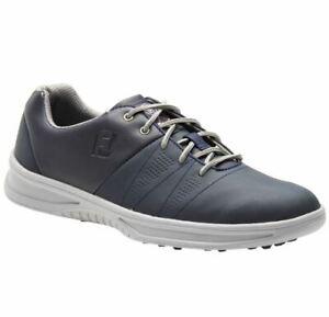 FootJoy Contour Casual Spikeless Men's Golf Shoes 54070 Navy 8 Wide 2E #83232