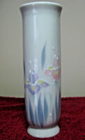 "Vintage 6"" Otagiri Hand Painted Porcelain Bud Vase Made Japan Floral Lite Design"