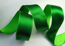 3mts X 38MM Christmas Wire Edge Reversible ELF & Green Satin Ribbons
