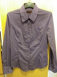 """Soft fitted purple striped Blend She shirt size large (36"""" chest)"""