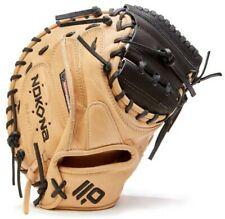 "Nokona SKN Series 33.5"" Baseball Catchers Mitt Closed Web Bison Left Hand, RHT"