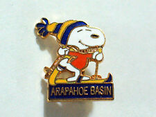 Arapahoe Basin Ski Resort Snoopy Cowboy Skiing Pin