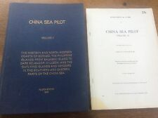 China Sea Pilot V2 Borneo Philippines Balabac Luzon Naval Book Navy Hydographer