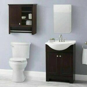 """Style Selections 15"""" x 26"""" Rectangle Surface/Recessed Medicine Cabinet-0760301"""