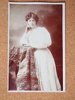 R&L Postcard: Vintage Photo of Edwardian Woman, Dress/Clothes