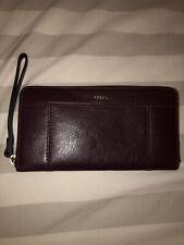 Fossil Wallet Deep Purple Zip Around