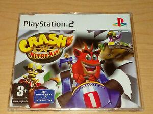 CRASH NITRO KART PS2 PLAYSTATION 2 FULL GAME RARE PROMO.