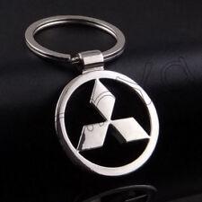 Mitsubishi Keychain Logo Metal Key Chain Silver Fob Car Belt Ring Auto Keyring