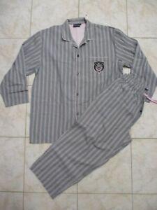 Pyjama EDEN PARK accessories gris broderie poche manches longues XL