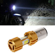 BA20D LED COB Motorcycle Bike Hi/Lo Headlight Lamp Bulb DC 10-80V 6500K 1500LM