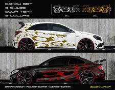 Camo Set Camouflage Seitenstreifen Autoaufkleber - 2-farbig/Text - #5_135 -5