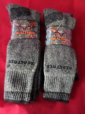 4 Pair Large Real Tree Cotton Hiker Work Boot Socks 9-13 Arch Support Made USA