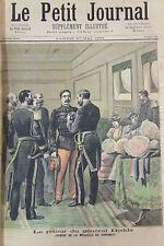 AFRIQUE DAHOMEY REMISE MEDAILLE AU GENERAL DODDS GRAVURE PETIT JOURNAL 1893