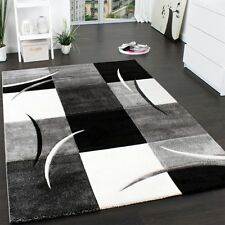 Black White Grey Check Rug Bedroom Floor Carpet Hall Runner Small Extra Large XL