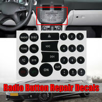 Radio interruttore pulsante riparazione adesivo decalcomania per Mercedes Benz C
