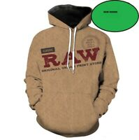 XL RAW Rolling Papers #rawlife Black Zipper Hoodie