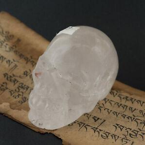 Crane cristal de roche tête DE mort 0kg819 Citipati Chamane fait main Tibet 5479