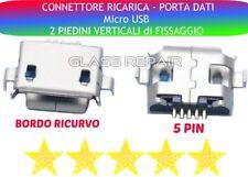 CONNETTORE RICARICA Micro USB 5 PIN 2 Piedini VERTICALI CARICA TABLET SMARTPHONE