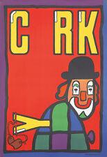 Original Vintage Poster Mlodozeniec Polish Cyrk Clown Circus 1974 Slingshot