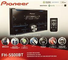NEW Pioneer FH-S500BT Double-DIN Car Audio Stereo w/ Bluetooth