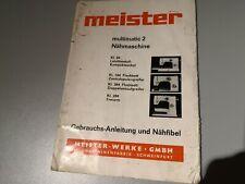 Meister Multimatic Kl. 84 184 284 384 Nähmaschine Bedienungsanleitung Handbuch