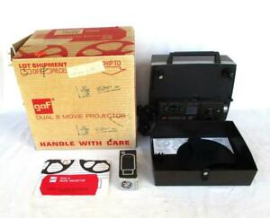 Gaf Model 1688Z Dual 8 Movie Projector With Spare Lamp Refurbished & Tested