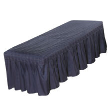 """Solid Massage Table Skirt Bed Valance Sheet Cover w/ Breath Hole 73x28""""-Blue"""