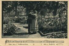 1908 VINTAGE SEMI-PHOTO SONG SERIES FIGHTING for HOME & BEAUTY POSTCARD - UNUSED