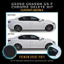 Fit 13-20 Lexus GS Series Window Trim Chrome Delete Blackout Kit - Matte Black