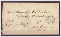 Thurn und Taxis, Vorphilatelie 2-seitiger Brief K 1 Detmold nach Rinteln 1850