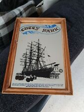 Cutty Sark Whisky - Small Mirror in Wood Frame - Good Condition