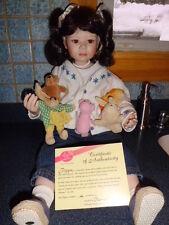 """Christine Orange Pipa 26"""" tall porcelain doll 210/1000 Elite & HSN"""