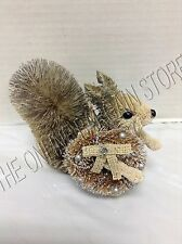 Pottery Barn Woodland Whimsy Squirrel Christmas Tree Ornament Bottle Brush