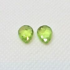 Peridot Faceted Briolette Beads Matched Pair