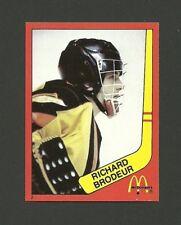 Richard Brodeur Vancouver Canucks #2 1982-83 McDonald's Hockey Sticker NM/M