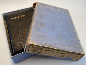 Vintage Cambridge King James Holy Bible, Leather Yapp, Boxed
