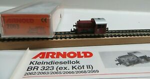 Arnold N 2063 Small Diesel Locomotive Br 323 863-1 DB with Instructions Boxed