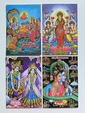 HINDÚ Tarjeta Postal Juego (23) Shiva -Vishnu-Krishna-LAKSHMI