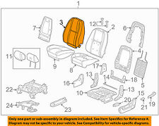 GM OEM Front Seat-Cushion Cover-Top Back 20987372