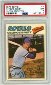 George Brett 1977 Topps Cloth Sticker #7 PSA 7