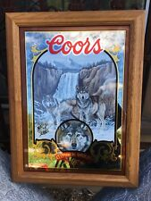 Coors with Wolves Mirror Sign