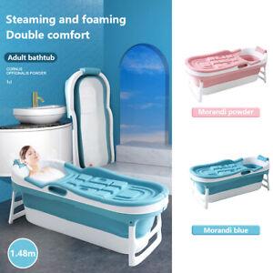 Groß Faltbare Badewanne freistehend Sauna Bad Faß Erwachsenen Kinder Rosa