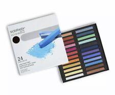 Solabela Basel Artist Pastel Chalks, Set of 24 Unique Colors