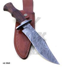 Hecho a mano cuchillo machete caza De Acero Damasco 13 pulgadas Rose Mango de Madera vk1060
